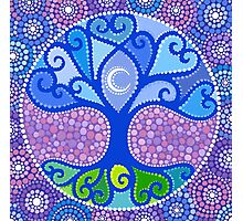 Moon-Tree Mandala Photographic Print