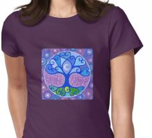 Moon-Tree Mandala Womens Fitted T-Shirt