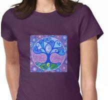 Moon-Tree Mandala Womens Fitted T-Shirt