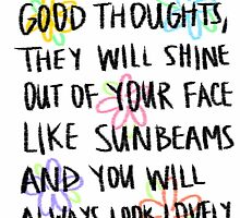 Roald Dahl- If You Have Good Thoughts by jimhalpert