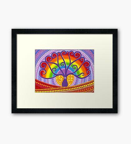 Rainbow Boab Tree of Life Framed Print
