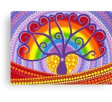 Rainbow Boab Tree of Life Canvas Print