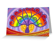Rainbow Boab Tree of Life Greeting Card