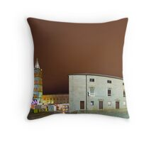 Low clouds in Zadar Throw Pillow