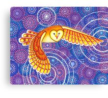 Owl Pulsating Magic Canvas Print