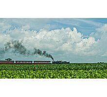 Tobacco, Corn, Train and Sky Photographic Print