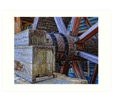 Tagget's Mill Water Wheel Art Print