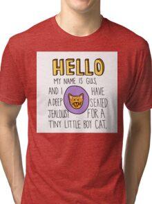 Psych- Little Boy Cat Tri-blend T-Shirt