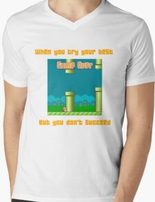 Flappy Failure Mens V-Neck T-Shirt