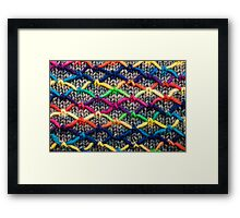 Knitting Aesthetic   Framed Print