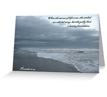 Storm Rushes In, Atlantic Beach Greeting Card