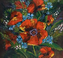 Poppies and Wildflowers no. 2 - Gifts of Nature... by Elisabeta Hermann