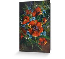 Poppies and Wildflowers no. 2 - Gifts of Nature... Greeting Card