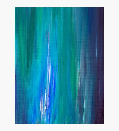 IRRADIATED BLUE Colorful Fine Art Indigo Teal Turquoise Modern Abstract Acrylic Painting Photographic Print