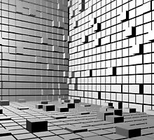 3D Cubes Background  by Brünø Beach .