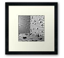 3D Cubes Background  Framed Print