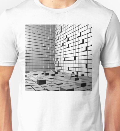 3D Cubes Background  Unisex T-Shirt