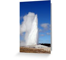 """Old Faithful"" Greeting Card"