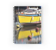 Yellow Boat Spiral Notebook
