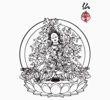 Floral Buddha by buddhabubba