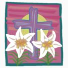Jesus Easter Cross by T-ShirtsGifts
