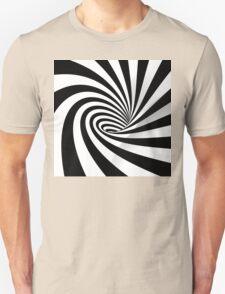 Black and White Vortex Unisex T-Shirt