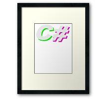 C# Framed Print