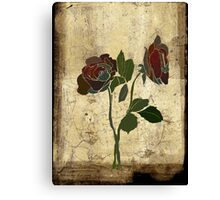 2 roses - valentine day Canvas Print