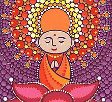 Jizo Meditating upon a Ruby Lotus by Elspeth McLean