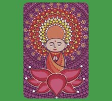 Jizo Meditating upon a Ruby Lotus Kids Tee
