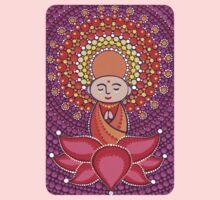 Jizo Meditating upon a Ruby Lotus One Piece - Long Sleeve