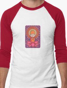 Jizo Meditating upon a Ruby Lotus Men's Baseball ¾ T-Shirt