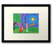 The Little Prince and the Fox Framed Print