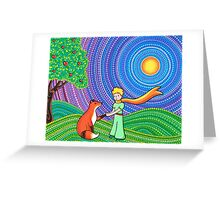 The Little Prince and the Fox Greeting Card