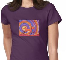 Fearless Friendly Fox  Womens Fitted T-Shirt