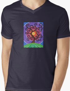 Spiralling Tree of Life Mens V-Neck T-Shirt