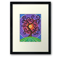 Spiralling Tree of Life Framed Print