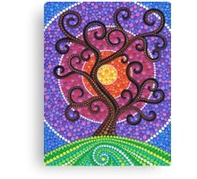 Spiralling Tree of Life Canvas Print