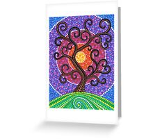 Spiralling Tree of Life Greeting Card