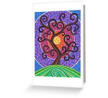 Spiralling Tree of Life Greeting Card