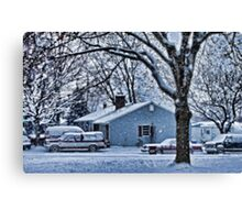 First Snowstorm Canvas Print