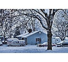 First Snowstorm Photographic Print