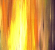 IRRADIATED YELLOW Colorful Fine Art Sunshine Yellow Warm Gold Orange Violet Modern Abstract Acrylic Painting by EbiEmporium