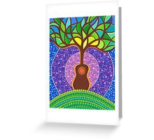 Guitar harmonic energy Greeting Card