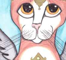Big Eyes Angel Cat Sticker