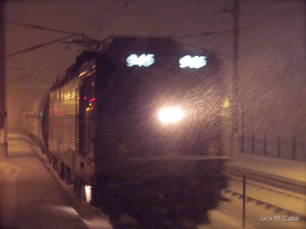 Blizzard Trains - AEM-7  © 2009 by Jack McCabe