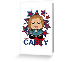 Team Carly Politico'bot Toy Robot Greeting Card