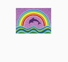 Dolphin rainbow energy Womens Fitted T-Shirt