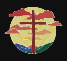 Christian Cross Sunrise T-Shirt