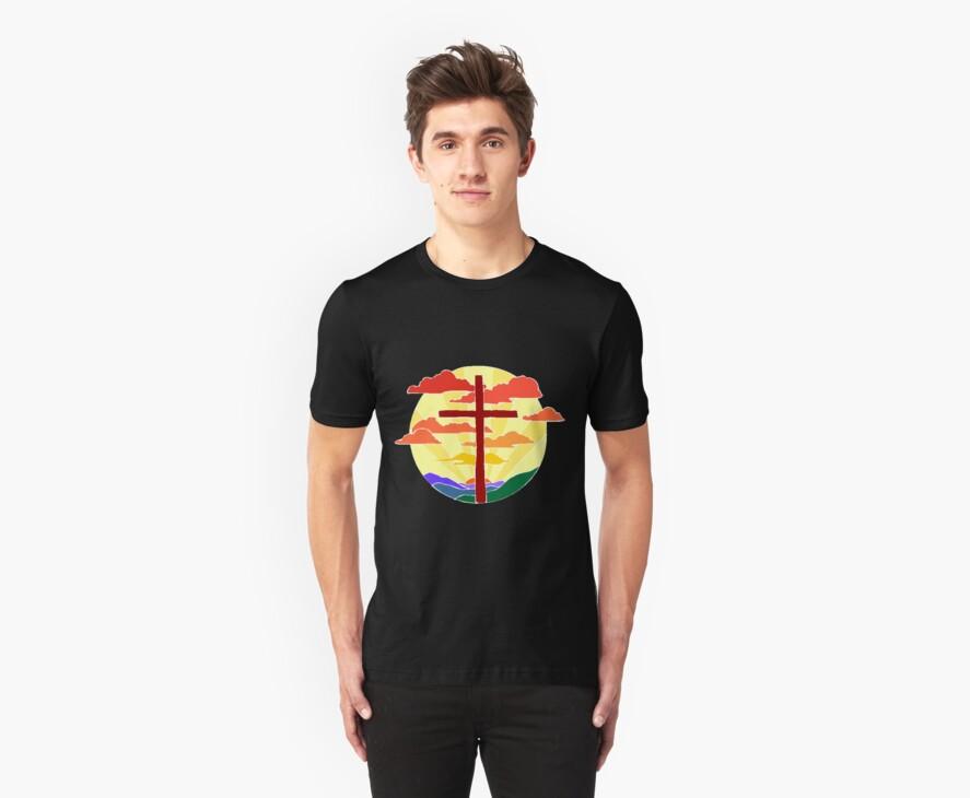 Christian Cross Sunrise by T-ShirtsGifts